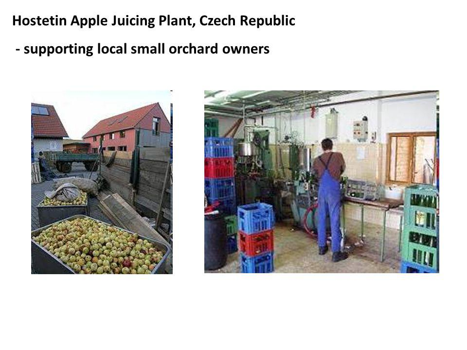 Hostetin Apple Juicing Plant, Czech Republic - supporting local small orchard owners