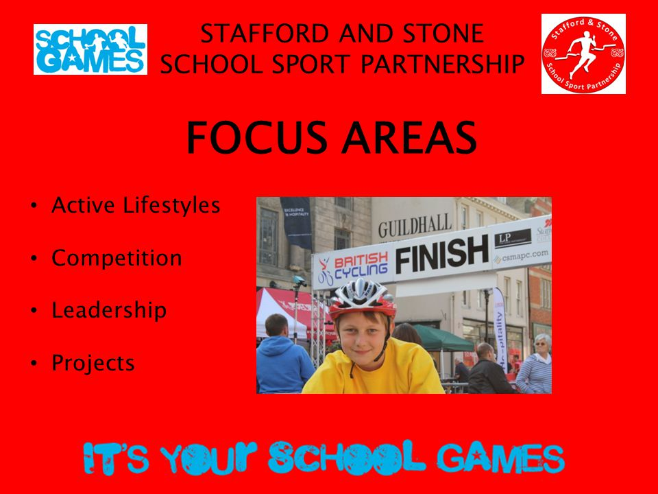 STAFFORD AND STONE SCHOOL SPORT PARTNERSHIP Active Lifestyles Active Plus Active Families Active Families Fitness Suite