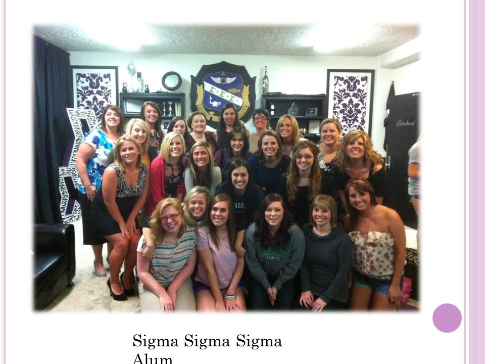 C ONNECTIONS : Another wonderful aspect of joining a sorority is the connections you gain once you become an active member. Once you are initiated you