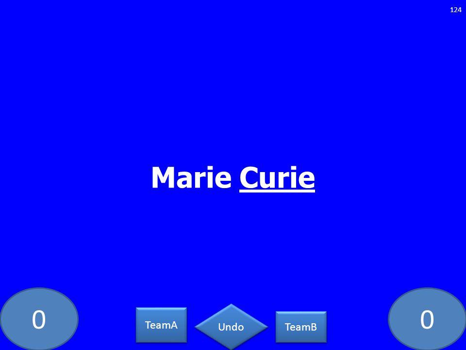 00 Marie Curie 124 TeamA TeamB Undo
