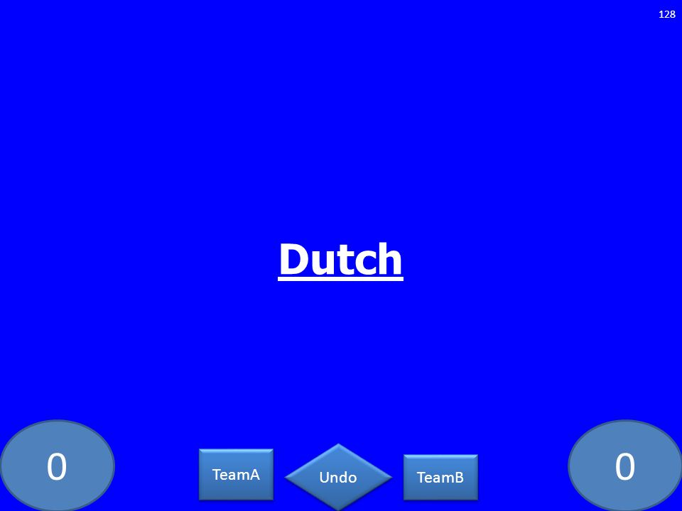 00 Dutch 128 TeamA TeamB Undo