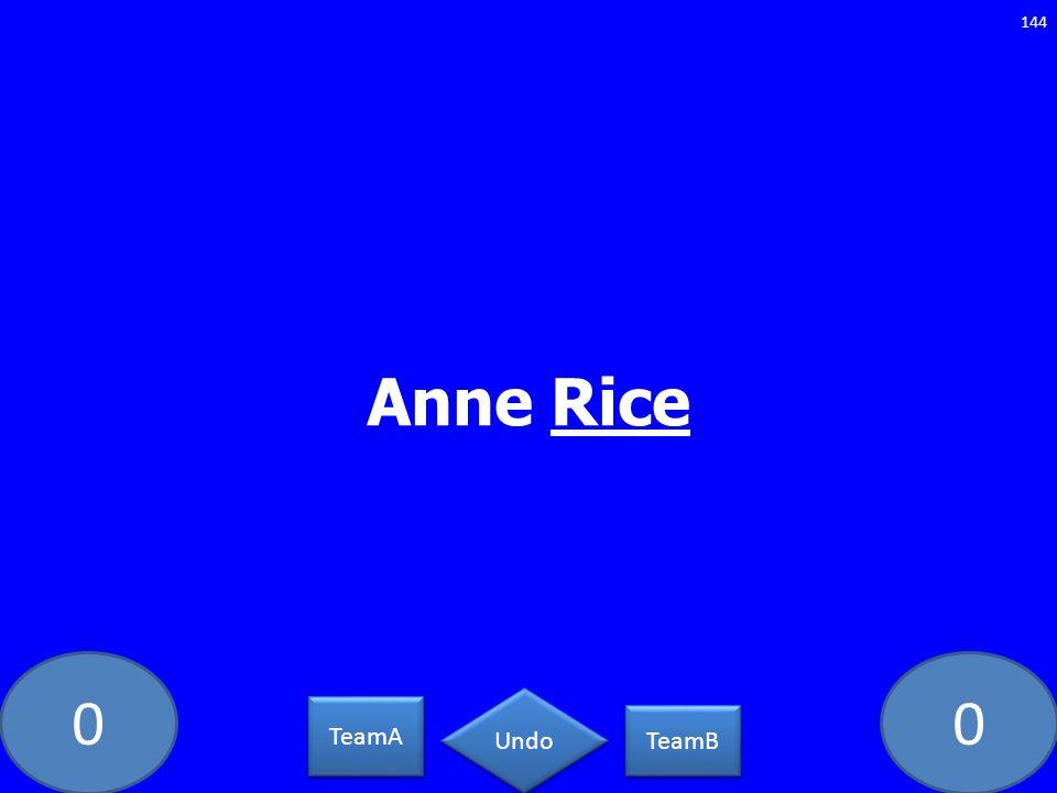 00 Anne Rice 144 TeamA TeamB Undo