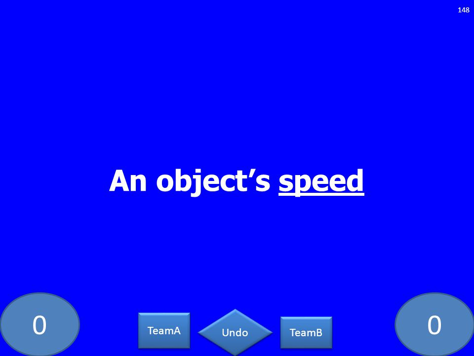 00 An objects speed 148 TeamA TeamB Undo