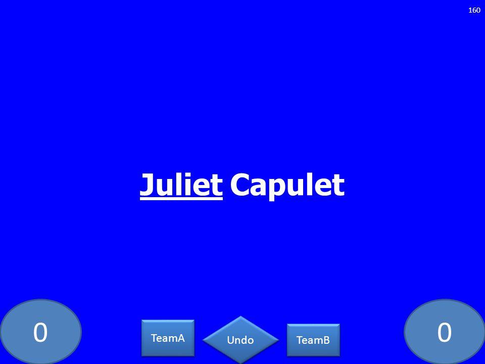 00 Juliet Capulet 160 TeamA TeamB Undo