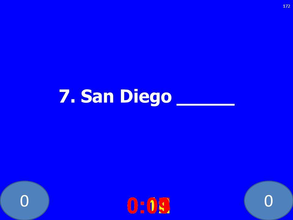 00 7. San Diego _____ 0:020:030:040:050:060:070:080:100:110:120:090:01 172
