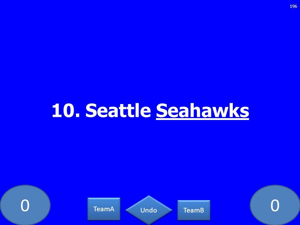 00 10. Seattle Seahawks 196 TeamA TeamB Undo