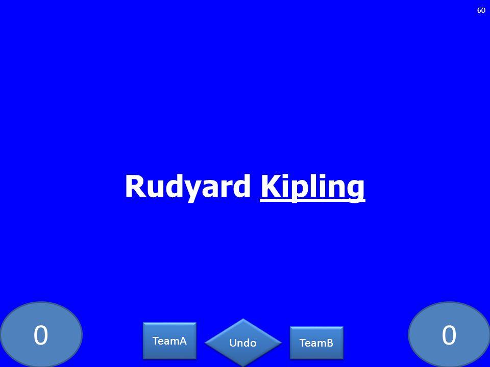 00 Rudyard Kipling 60 TeamA TeamB Undo