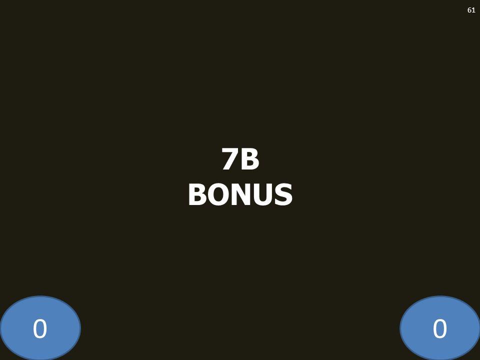 00 7B BONUS 61