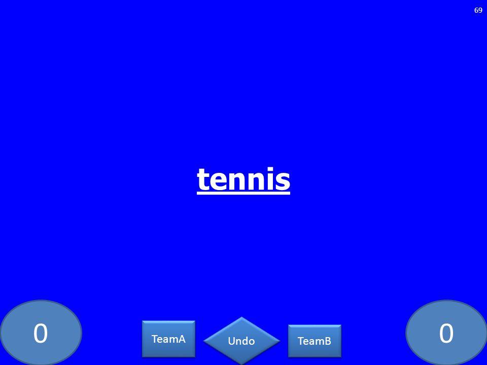 00 tennis 69 TeamA TeamB Undo