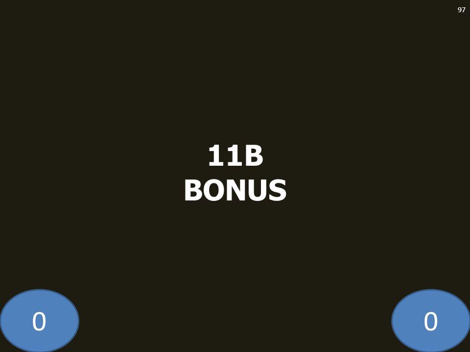 00 11B BONUS 97