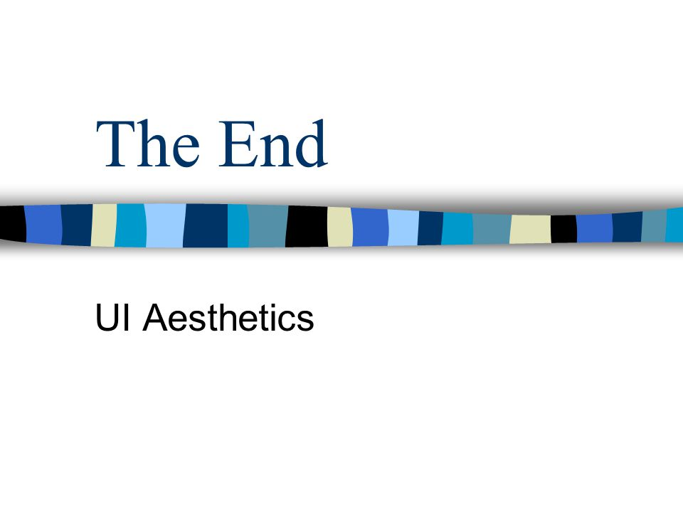 The End UI Aesthetics