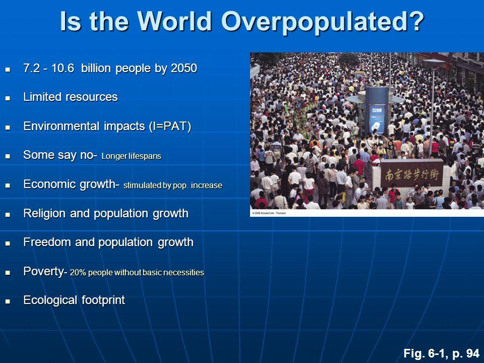Key Concepts Factors affecting population size Factors affecting population size Human population problems Human population problems Managing populati