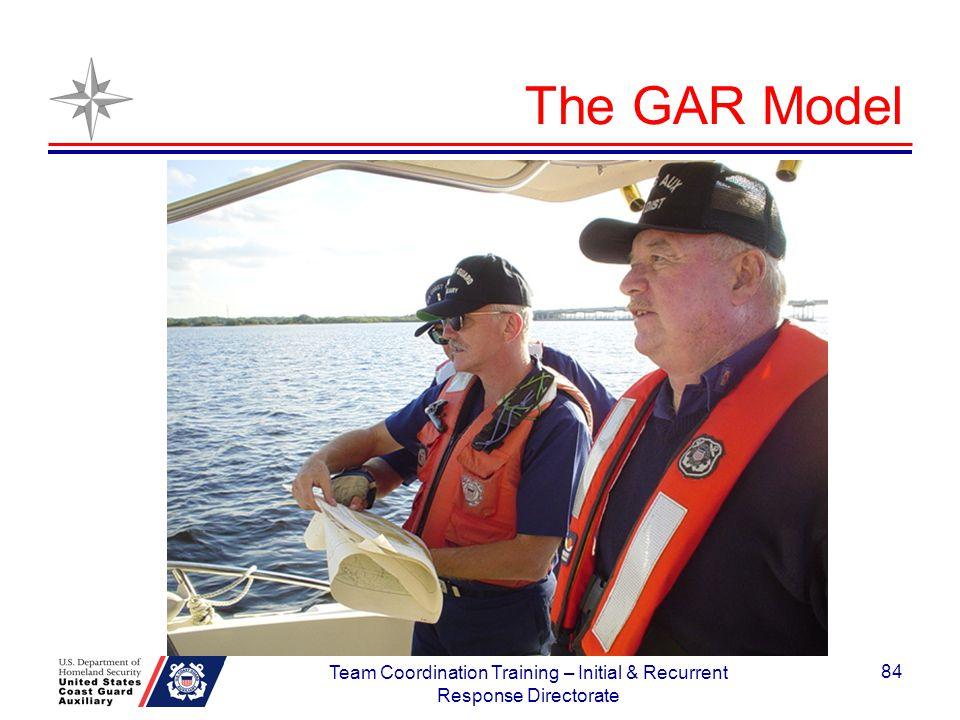 The GAR Model 84 Team Coordination Training – Initial & Recurrent Response Directorate