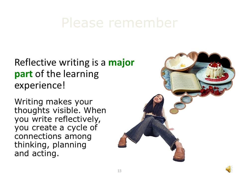 12 1. Introduction to writing reflectively Kolbs reflective cycle: An example