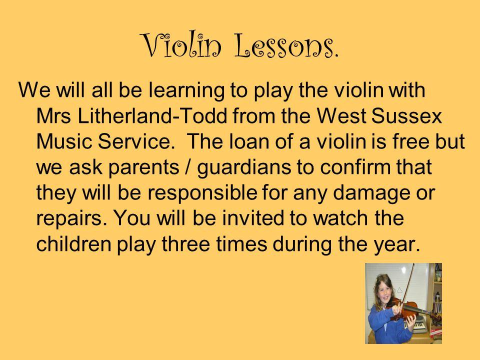 Violin Lessons.