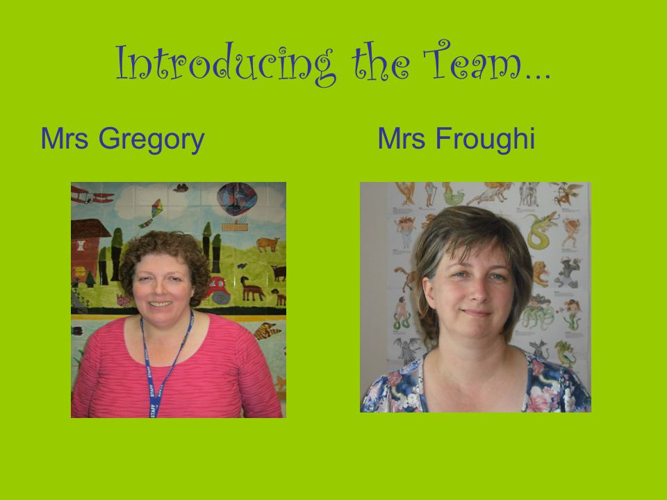 Introducing the Team… Mrs Gregory Mrs Froughi