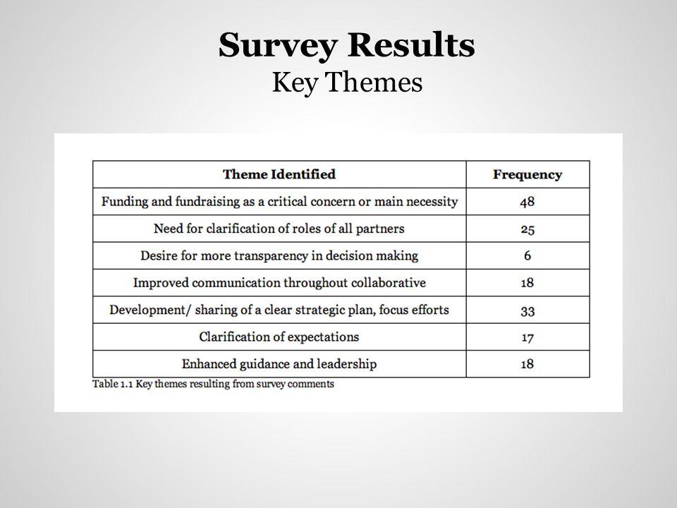 Survey Results Key Themes