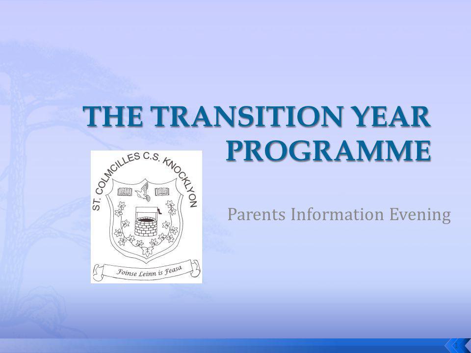 Parents Information Evening 1