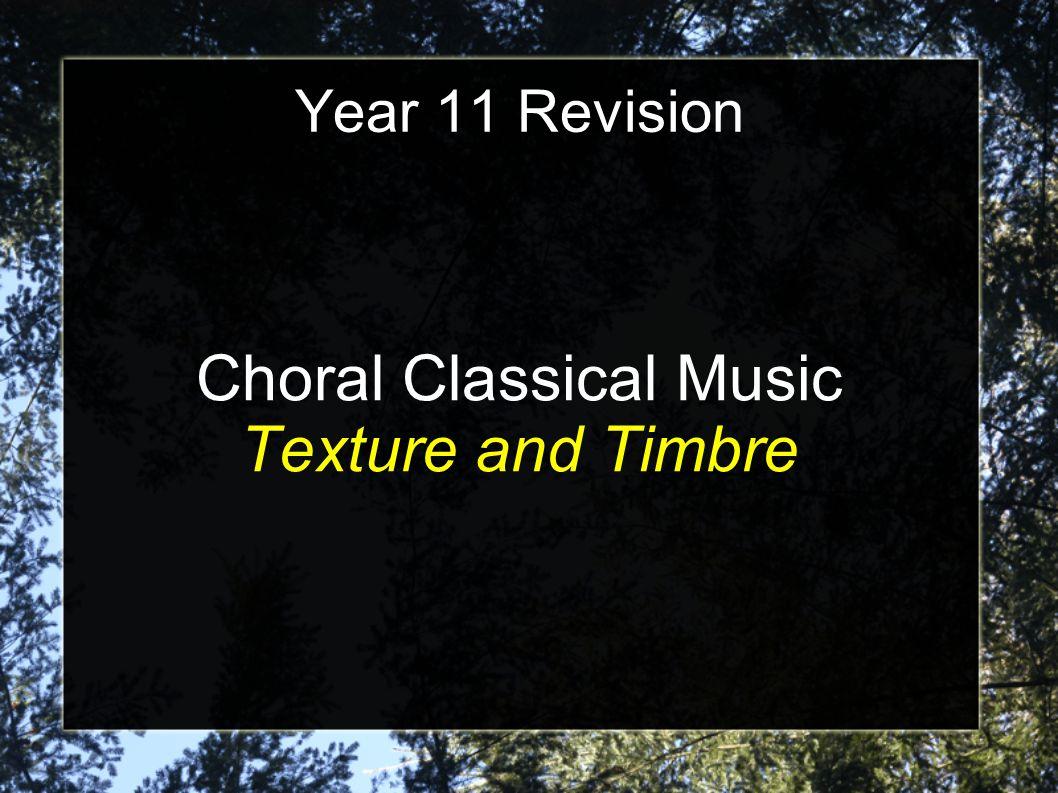Key Words Choral Oratorio Overture Aria Recitative Chorus Orchestral Interlude Mass Fugue Pedal Requiem Soprano Alto Tenor Bass Contrapuntal Homophonic Melody with Accompaniment