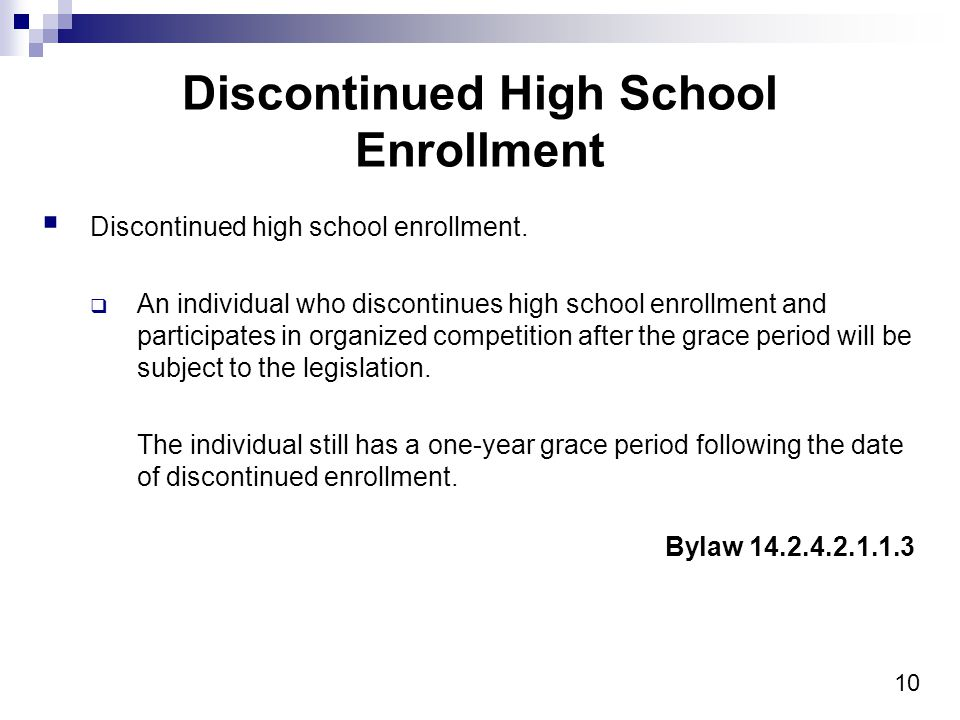 10 Discontinued High School Enrollment Discontinued high school enrollment.