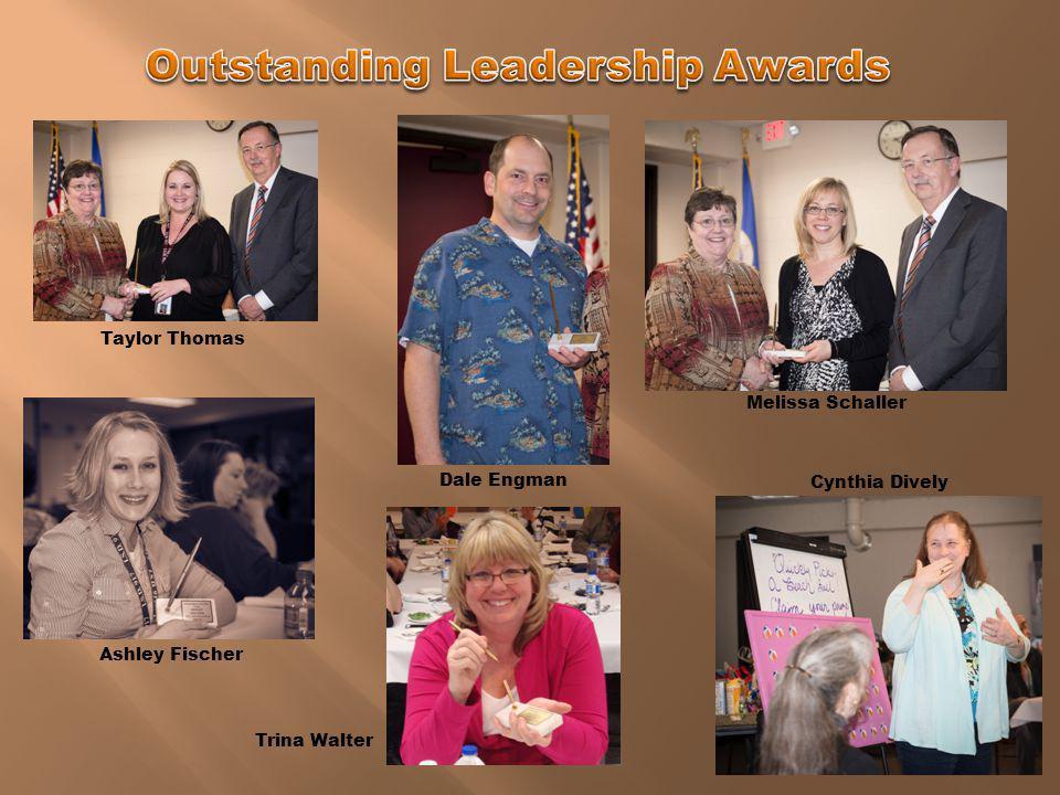 Ashley Fischer Teacher of the Year Justin Hoelscher Employee of the Year