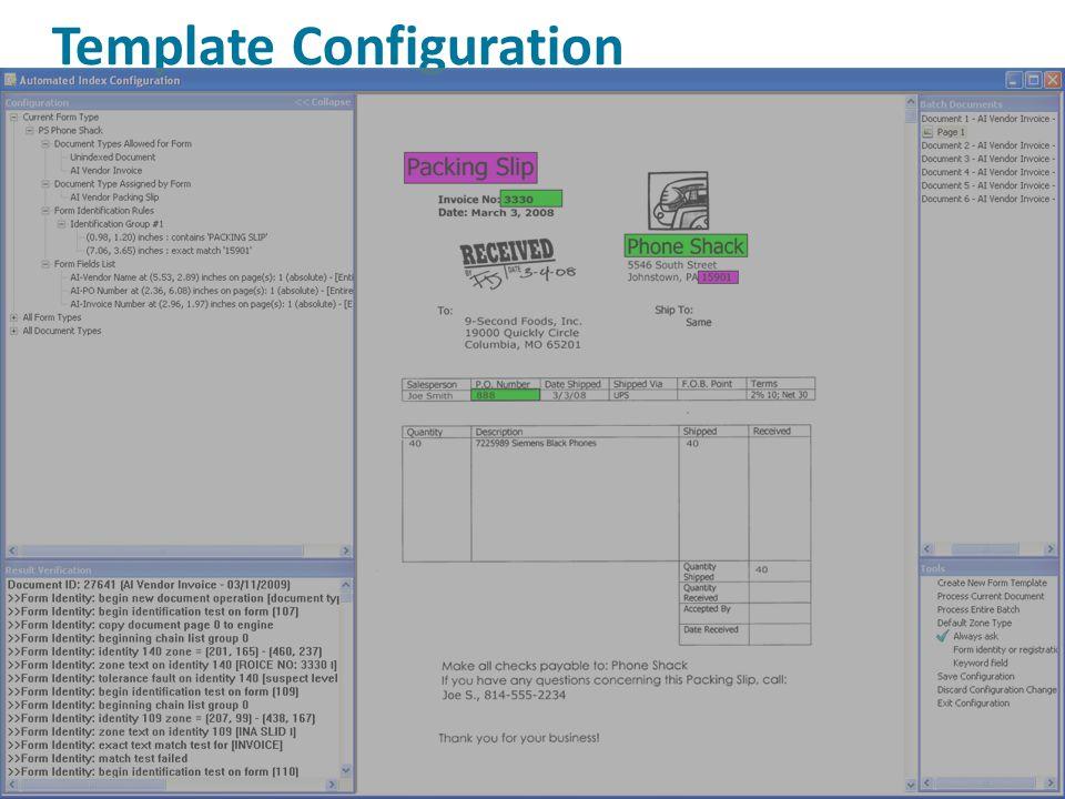 Template Configuration