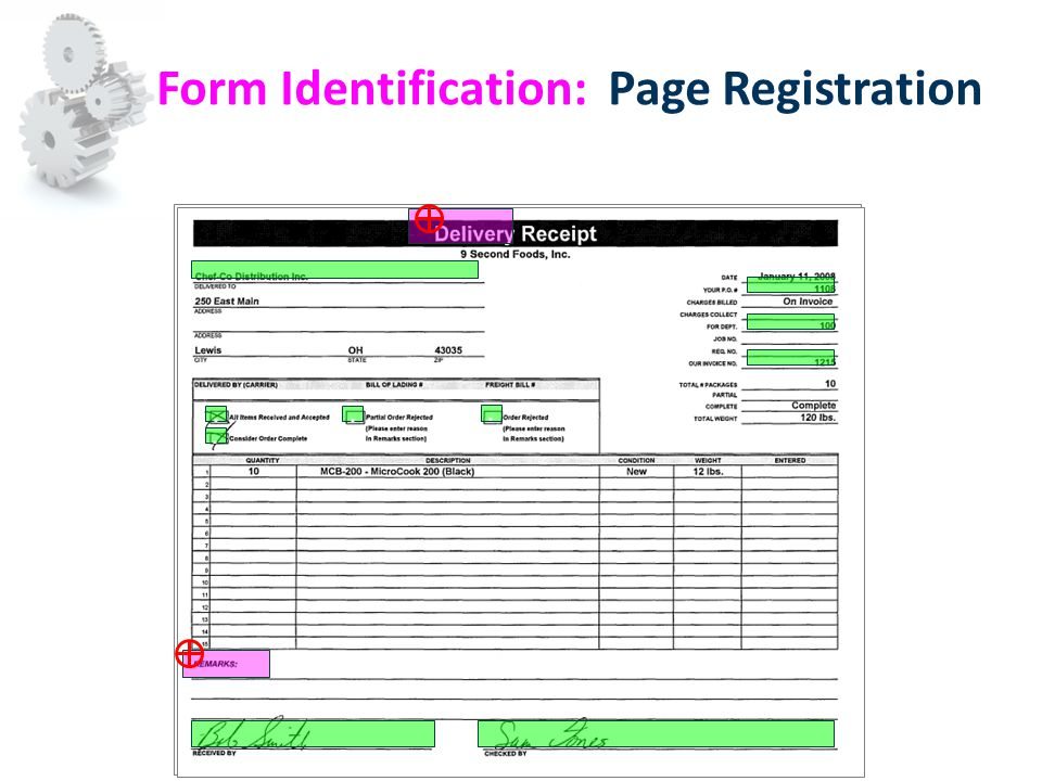 Form Identification: Page Registration....