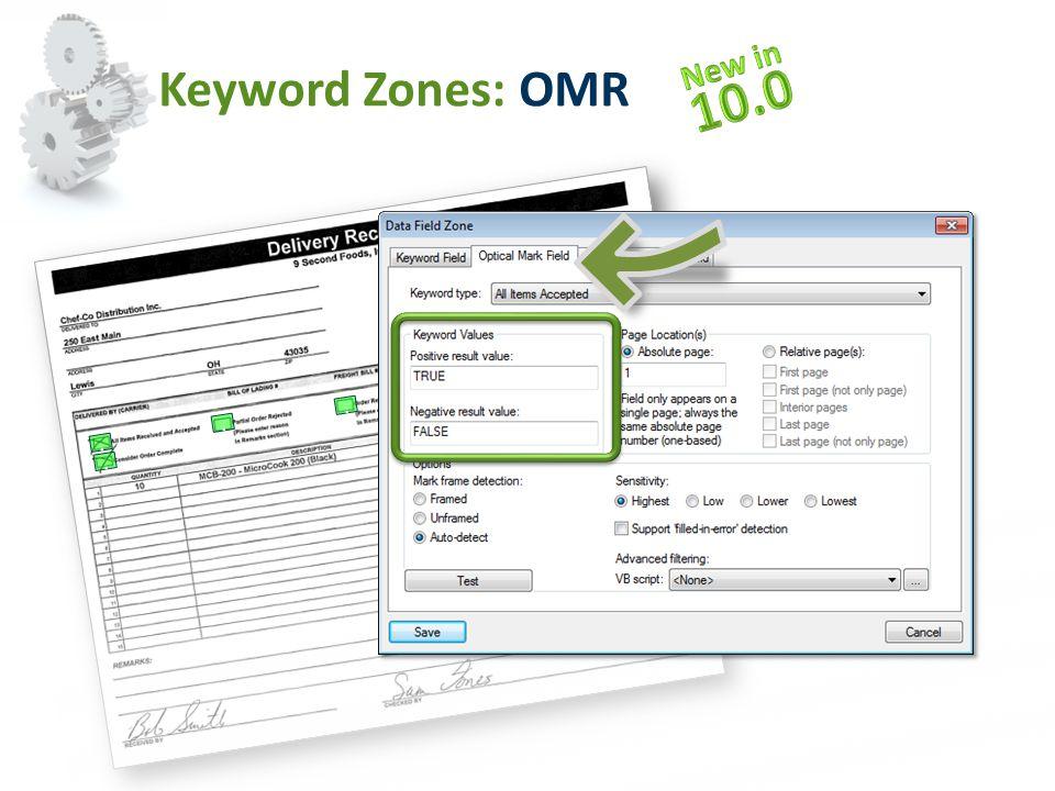 Keyword Zones: OMR....