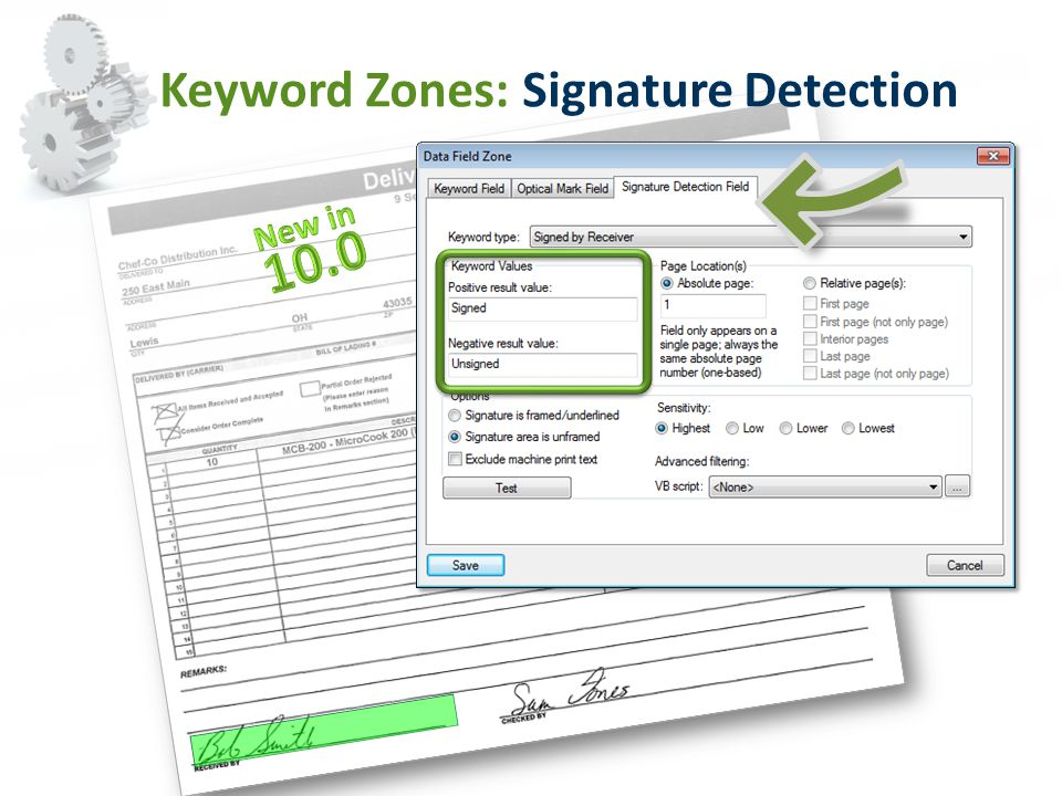 Keyword Zones: Signature Detection