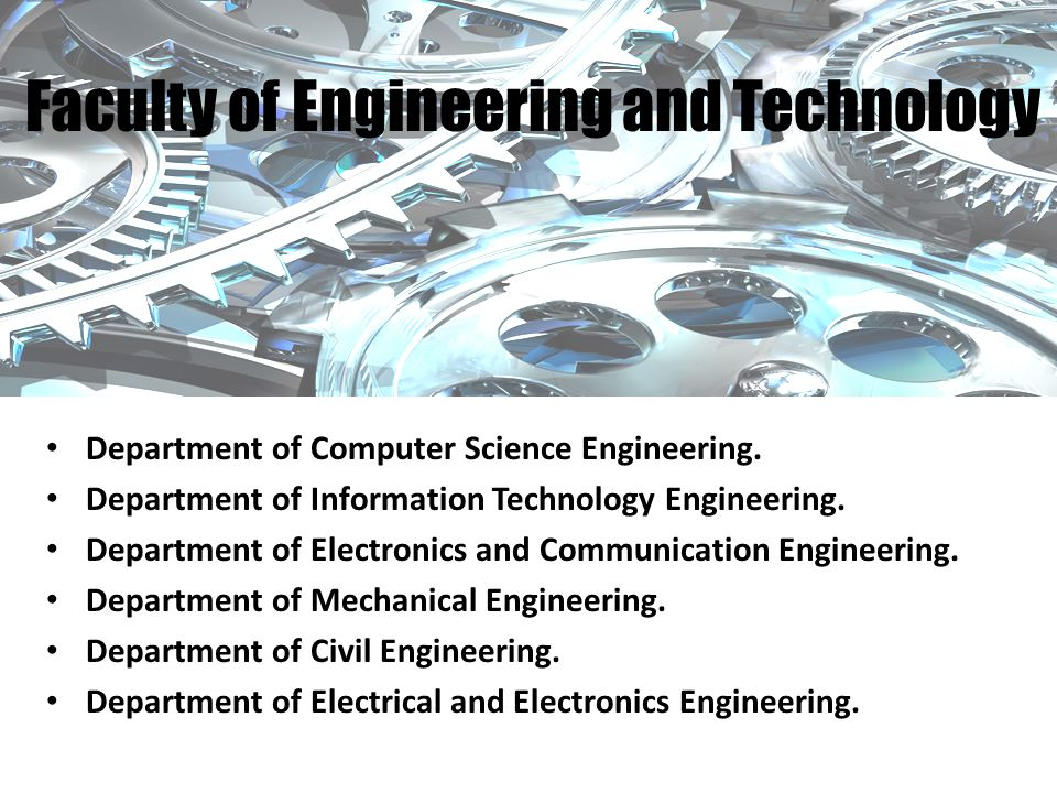 Department of Computer Science Engineering. Department of Information Technology Engineering.