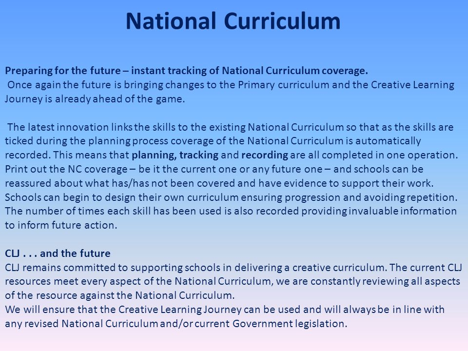 Preparing for the future – instant tracking of National Curriculum coverage. Once again the future is bringing changes to the Primary curriculum and t