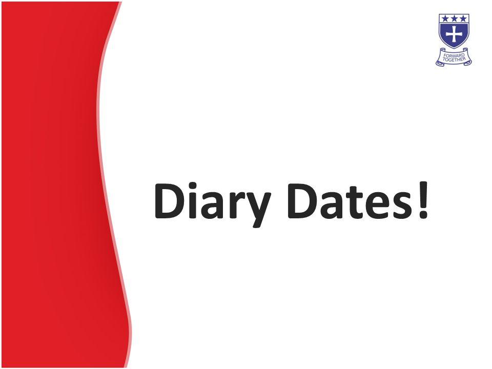 Diary Dates!