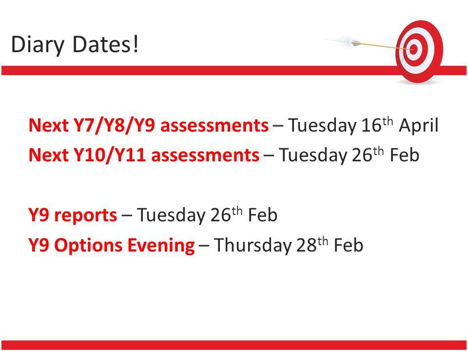 Diary Dates.