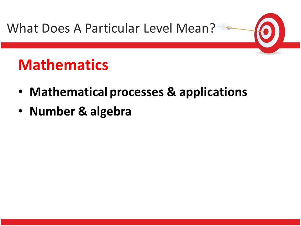 Mathematics Mathematical processes & applications Number & algebra What Does A Particular Level Mean?