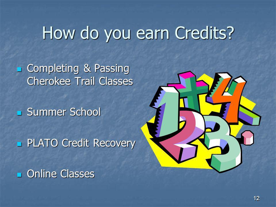12 How do you earn Credits.
