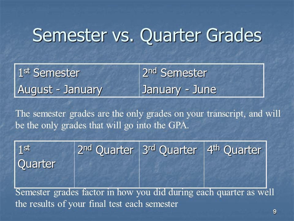 9 Semester vs.
