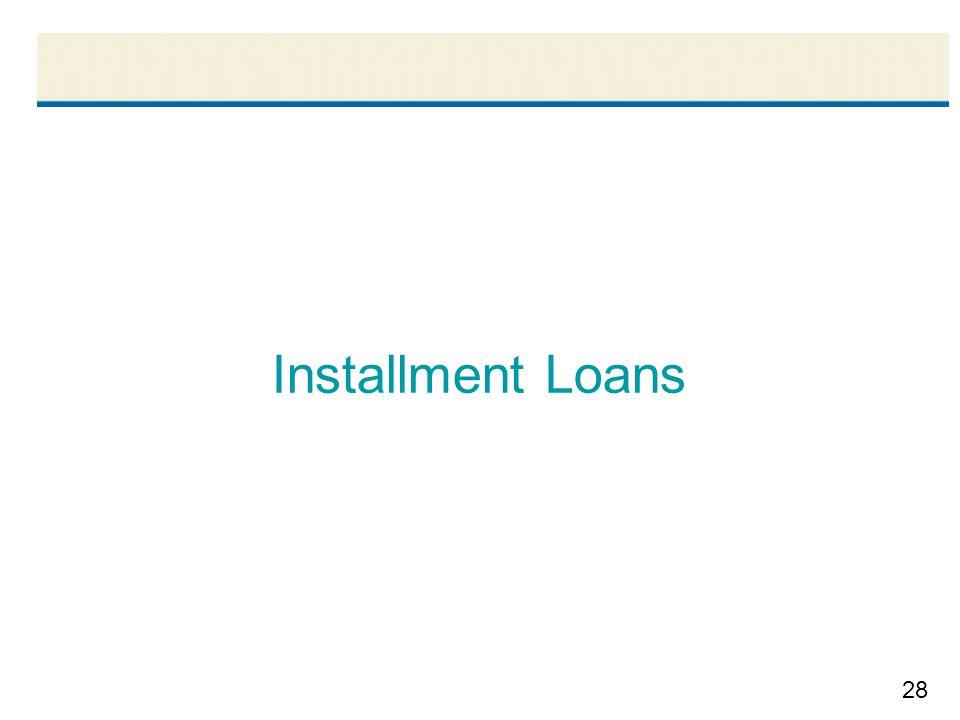 28 Installment Loans