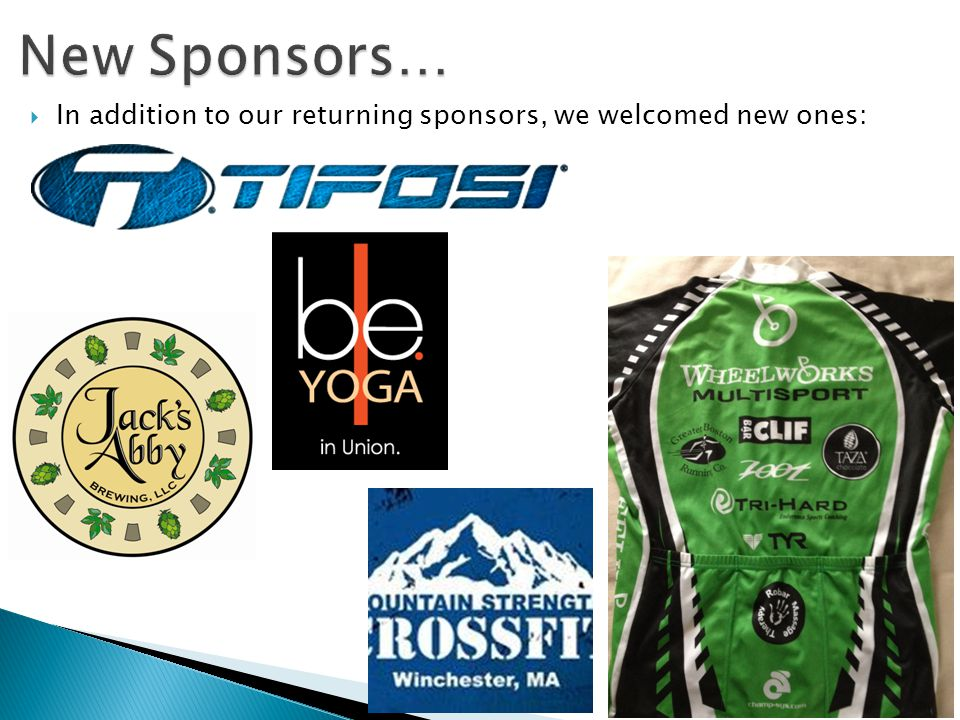 In addition to our returning sponsors, we welcomed new ones: