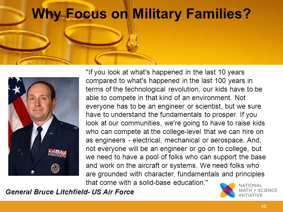 10 Why Focus on Military Families.