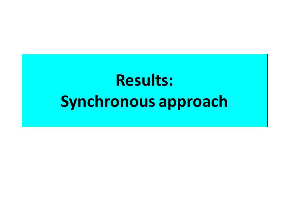 Results: Synchronous approach