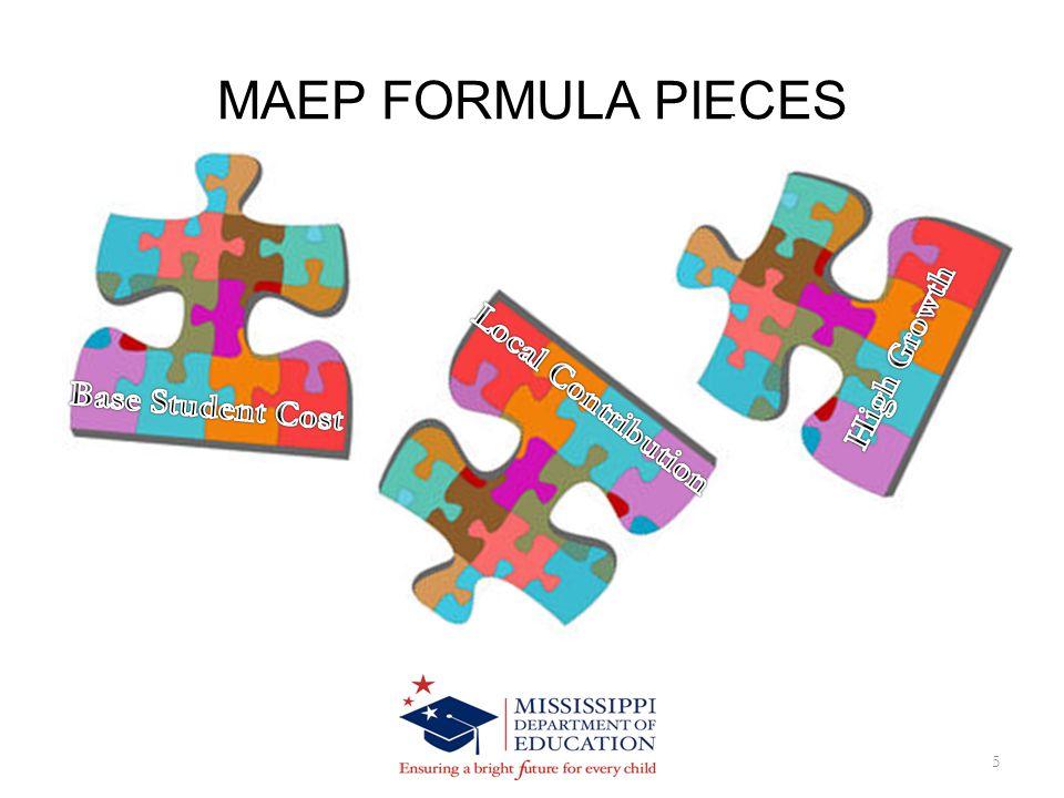 MAEP FORMULA PIECES 5
