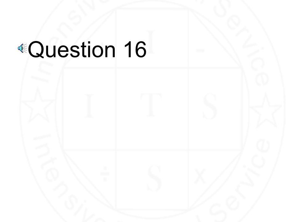 Question 15 40 120
