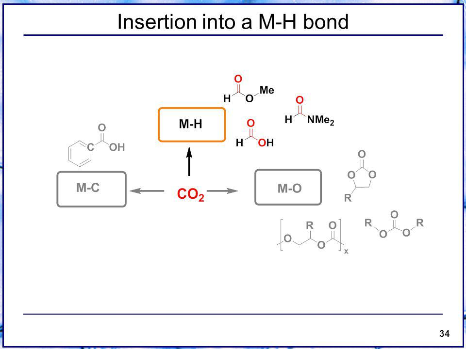 34 Insertion into a M-H bond
