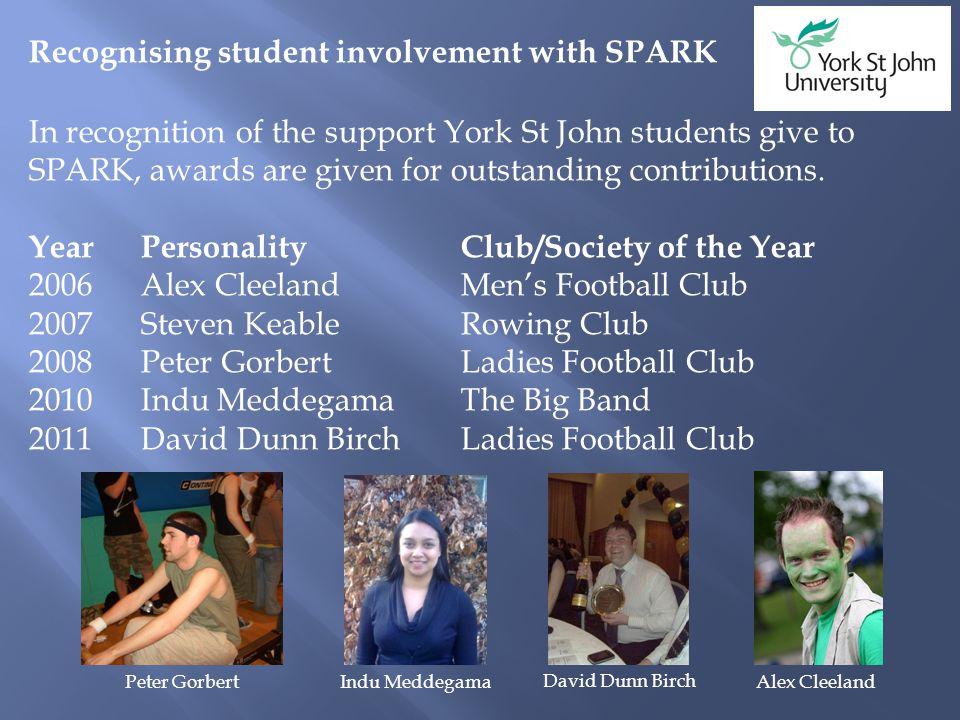 Alumni Development Office SPARK Club of the Year 2010-11 Ladies Football Club Ladies Football Club annual match versus the staff (2011)