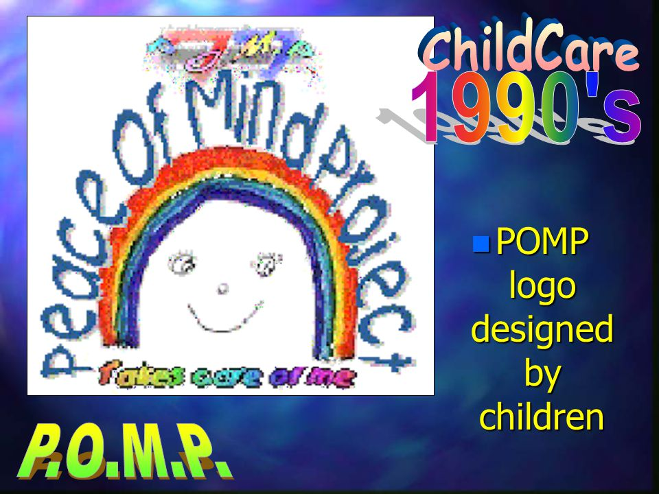 n POMP logo designed by children