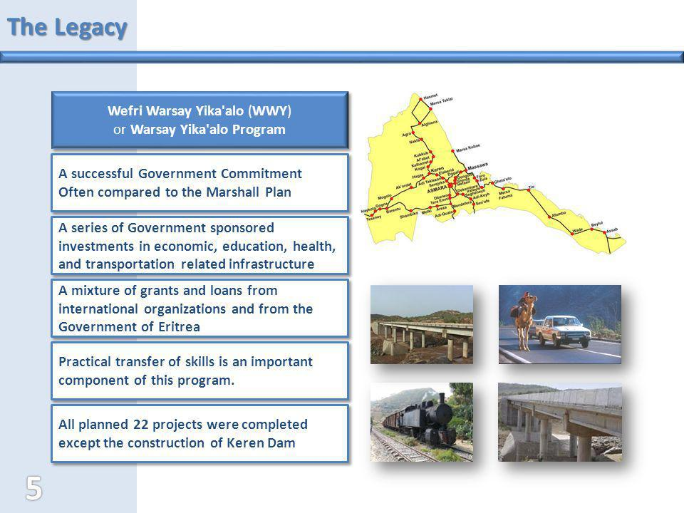 The Legacy Wefri Warsay Yika'alo (WWY) or Warsay Yika'alo Program Wefri Warsay Yika'alo (WWY) or Warsay Yika'alo Program A successful Government Commi