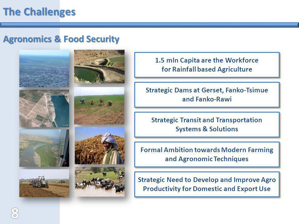 The Challenges Agronomics & Food Security Strategic Dams at Gerset, Fanko-Tsimue and Fanko-Rawi Strategic Dams at Gerset, Fanko-Tsimue and Fanko-Rawi