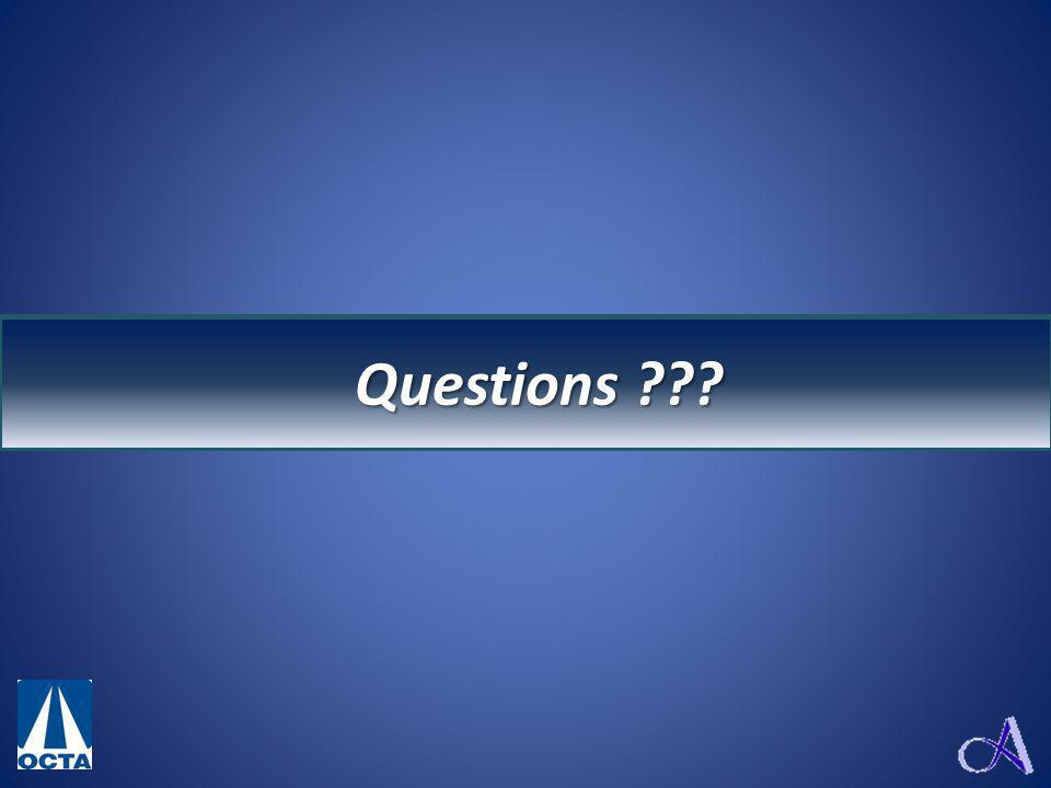 Questions ? Questions ???