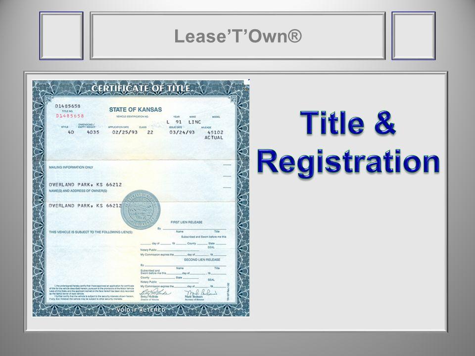 LeaseTOwn® LTO ® BHPH