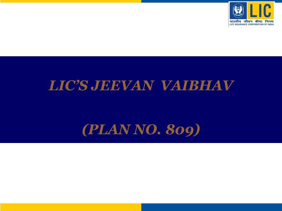 LICS JEEVAN VAIBHAV (PLAN NO. 809)